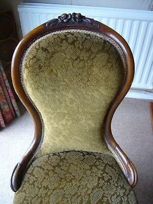 Victorian Nursing Chair with Spoon back