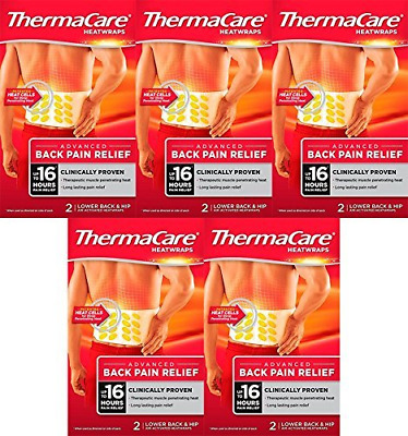 5 Pack - ThermaCare Lower Back Heat Wrap 5 Bundle