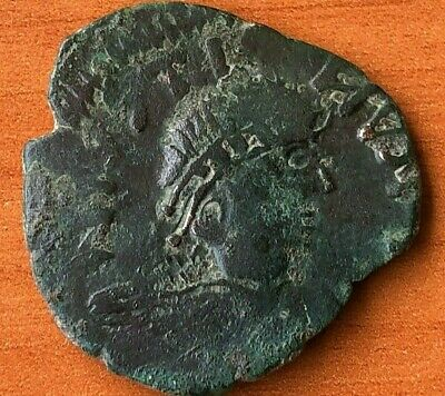 """Justin I 512-518 AD AE Follis Large """"M"""" Constantinople Anciet Byzantine Coin"""