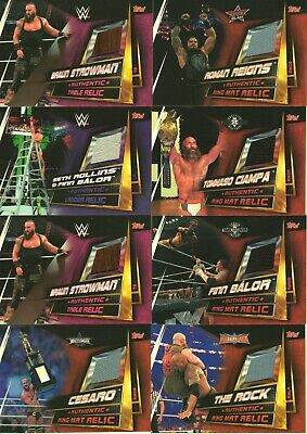 2019 WWE Slam Attax UNIVERSE - Authentic RING MAT MEMORABILIA relic cards