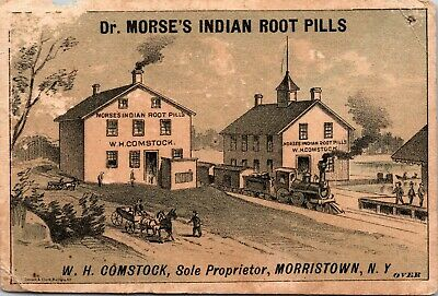 Quack Medicine Dr Morse Indian Root Pills NEW BERLIN UNION CO PA  TRADE CARD