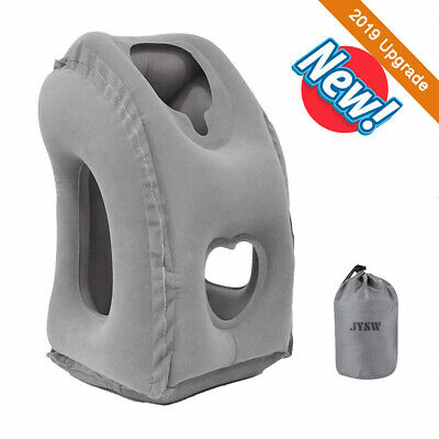 Portable Inflatable Travel Pillow Airplane Cushion Office Neck Head Rest Luxury