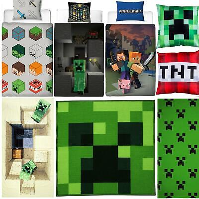 Minecraft Bedding Creeper Duvets Towel Cushion Blanket - Sold Separately