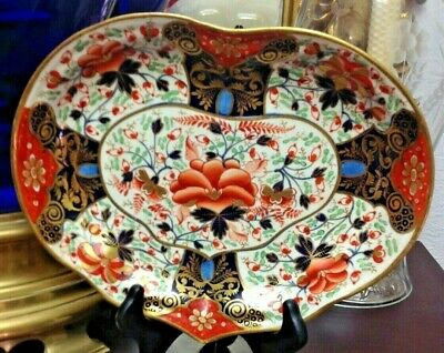 SALE! Pair of Antique 19th Century English Derby Imari Side Dish Plate
