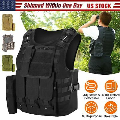 Outdoor Tactical Military Airsoft Paintball Vest Adult  Adjustable Police Vest