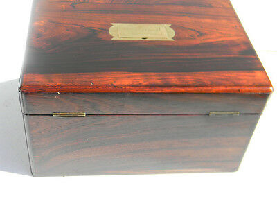Vanity box in rosewood Victorian circa 1850's