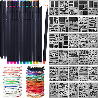 Scrapbooking Supplies Kit Scrapbook Tools and Supplies Journal Stencil Washi and