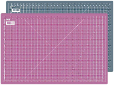 PAVO Premium High-Quality and Self Healing Double-Sided Cutting Mat, PVC, Grey,