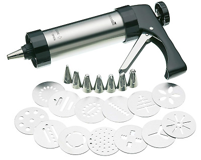 KitchenCraft MCICINGPRO MasterClass Biscuit Making and Icing Set, 22 Pieces,