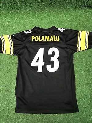 c60df030 REEBOK NFL JERSEY Pittsburgh Steelers Troy Polamalu White Super Bowl ...