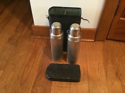 2 Antique 1915 1917 Universal Landers Frary & Clark Thermos w/ Carrying Case