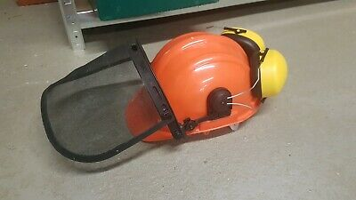 Chainsaw Brush Cutter Strimmer Helmet Ear Defenders Face Shield Stihl Husqvarna
