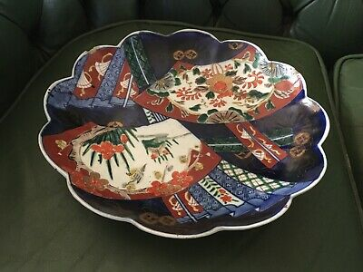 Antique 19th Century Large Japanese Imari Plate