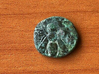 "Ephesos, Ionia 387-295 BC AE13 ""Bee & Stag"" Ancient Greek Bronze Coin"