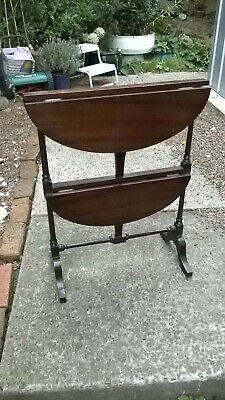Antique Two Tier Folding Occassional Table