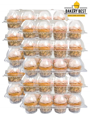 BAKERY BEST [10 Pack x 12 Counts] Cupcake Carrier Holds 12 Cupcakes | Plastic |