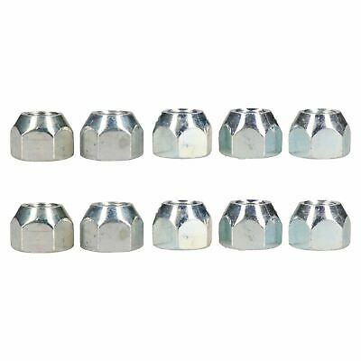 """7/16"""" UNF Conical Wheel Nuts Pack of 10 for Trailer Caravan Suspension Hubs"""