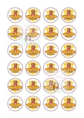 Waffle The Wonder Dog Cupcake Toppers X24 Edible Icing Fairy Cake Decorations
