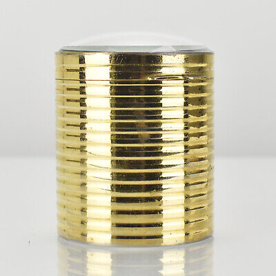 Antique French Gilt Metal Container Trinket Box Cut Glass Lid & Base Victorian