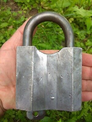 Large vintage Antique padlock from cccp soviet Union with 1 original keys
