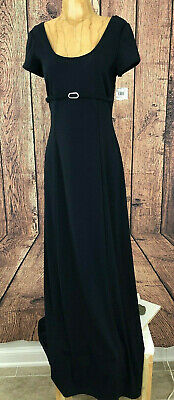 NWT Adrianna Papell Boutique Evening Navy Womens Size 12 Pleat Long 0424316830