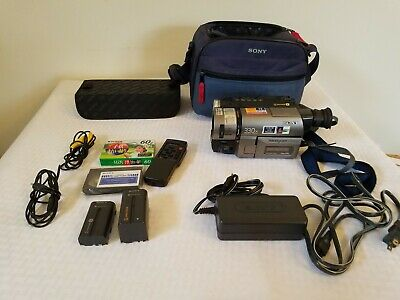 Sony Handycam CCD-TRV46 Video Hi8 Camcorder Night Vision ghost hunting with case