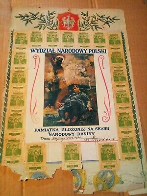 Polish National Department. It's for Poland.  Extremely Rare 1918 Polish poster