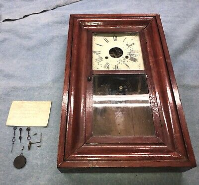 """Late 1800""""S Antique Seth Thomas Weight Driven Clock For Parts Or Restoration"""