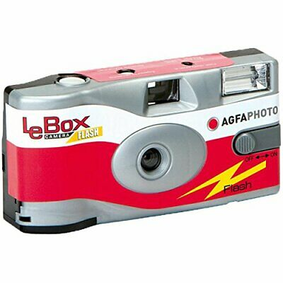Agfa LeBox Single Use Disposable Camera with Flash 27exp From Japan New