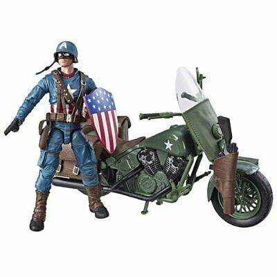 Marvel Legends Captain America Action Figure with Motorcycle