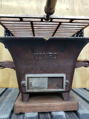 Vintage KONRO Hibachi Grill Cast Iron Table Top Grill