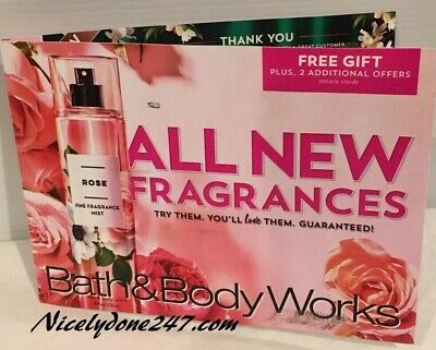 Three Bath & Body Works Coupons, Valid In Store or Online, All Expire 8/25/19