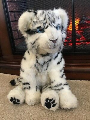 WowWee White Siberian Tiger Interactive Plush Blue Eye Stuffed Animal Cat 2007