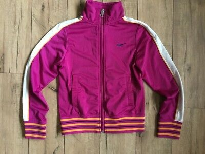 Nike Athletic Full Zip Warm Up Sports Jacket Youth Girls Size Small Multi Color