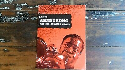 Vintage 1950's Louis Armstrong And His Concert Group Program