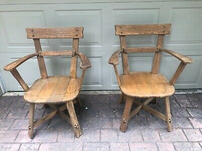 Two Vintage Old Hickory Adirondack Chairs Martinsville Indiana