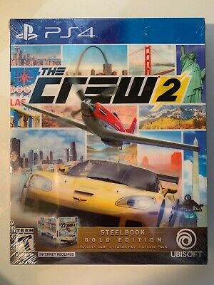 Brand New! Factory Sealed! The Crew 2 Steelbook Gold Edition Ps4 Playstation 4