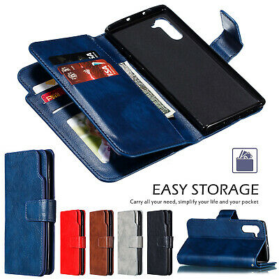 For Samsung Galaxy Note 10 Plus Luxury Magnetic Leather Flip Wallet Case Cover