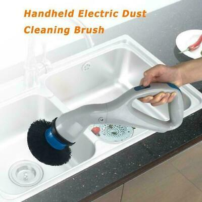 Spin Maid Electronic Cordless Powered Floor Cleaner top Mop- Scrubber Polis D6I6