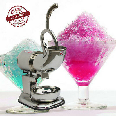 400lbs Ice Shaver Machine Sno Snow Cone Maker Shaved Icee Electric Crusher NEW