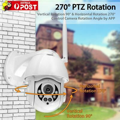 1080P WiFi Outdoor Dome Camera Wireless Security Night Vision Zoom AU Stock