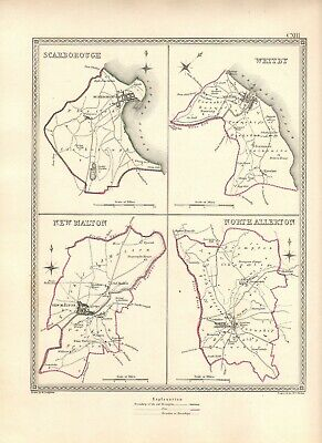 Antique Map COUNTY ELECTION NORTH YORKSHIRE Whitby SCARBOROUGH Malton Etc. 1835