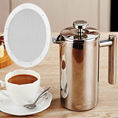 4Stainless Steel Reusable Metal Filter Replacement for Aeropress Coffee Espresso