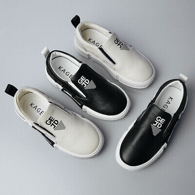 26-37 Kids Boys Girls Flat Loafers Leather Shoes Moccasins Boat Shoes Slip On