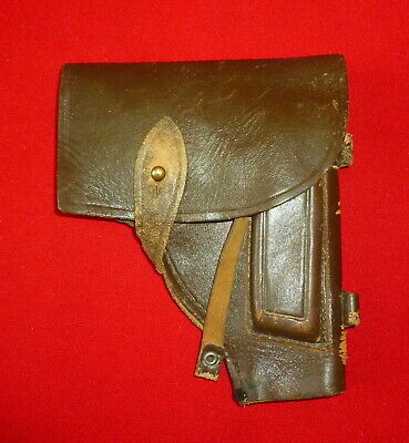 1989 Russian Soviet Real Leather Gun Holster USSR Look