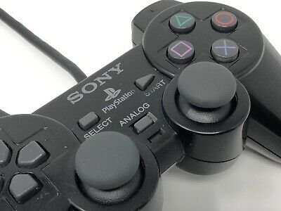 Official Sony PlayStation DualShock 2 Controller - Black - PS1 / PS2