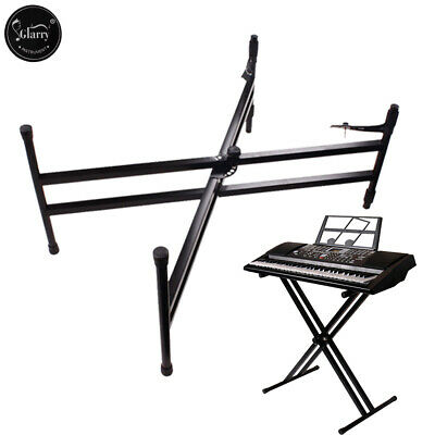 Glarry Portable Heavy Duty X Frame Folding Keyboard Stand Piano w/Straps
