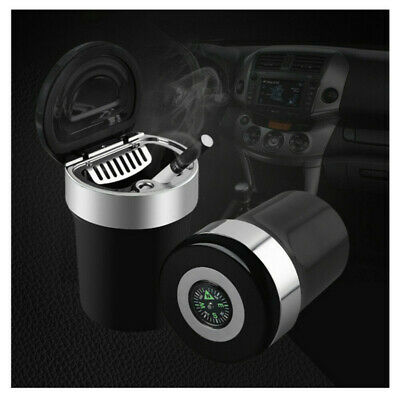 Auto Car Ashtray Portable Smokeless Cigarette with LED Stand Cylinder Cup Holder