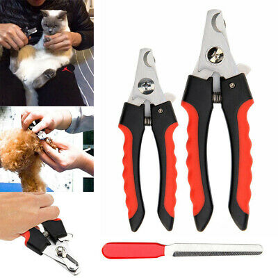 Pet Nail Scissors Claw Clippers Grooming Trimmer File Small Large Cutter Dog Cat