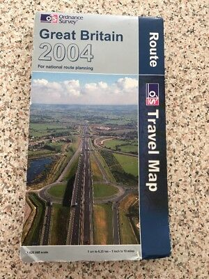 Ordnance Survey Map - Great Britain 2004 - Route Travel Map
